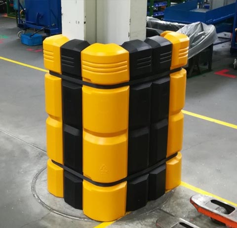 column guard, column protection, column protector, impact protection